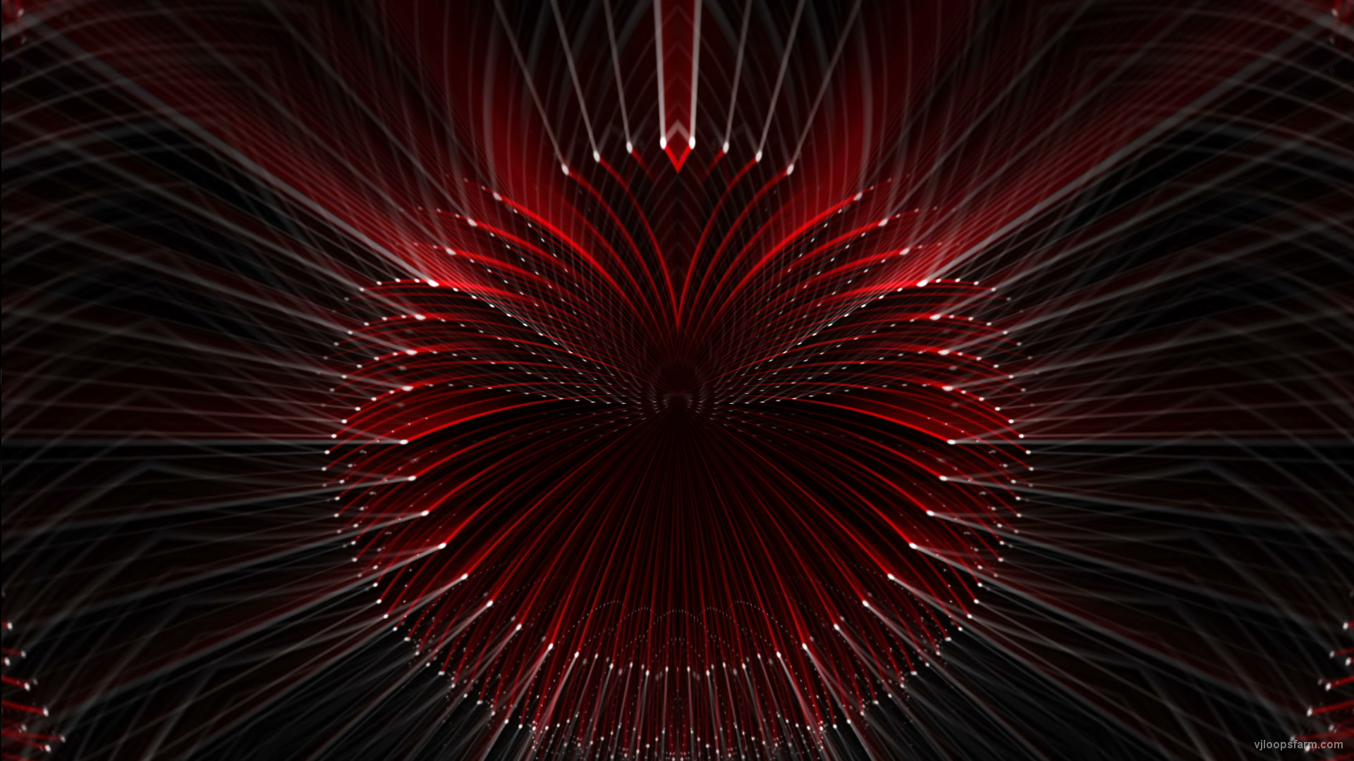vj video background Slowly-red-white-point-Radial-rays-animation-vj-loop_003