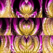 Yellow-Wireframe-Cyber-Egg-with-Pink-Rays-Effect-Motion-Background-Video-Art-VJ-Loop VJ Loops Farm