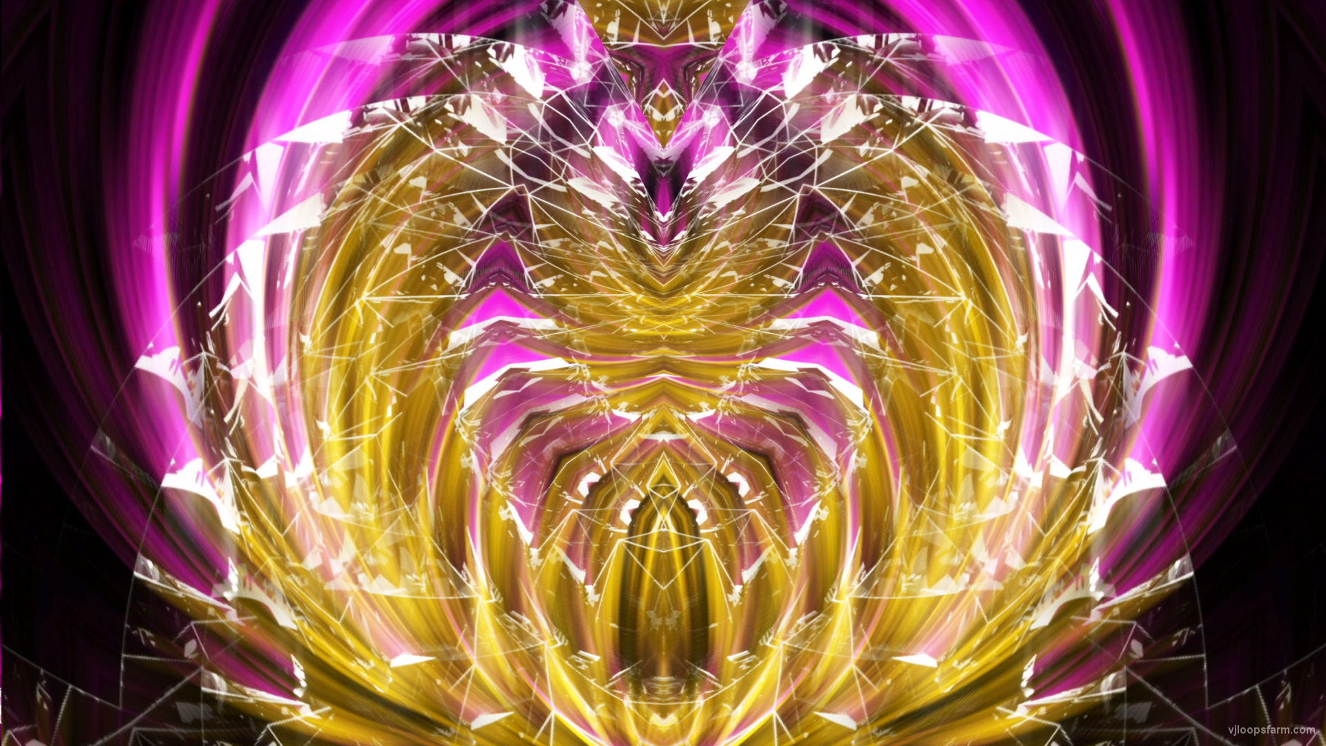 vj video background Yellow-Wireframe-Cyber-Egg-with-Pink-Rays-Effect-Motion-Background-Video-Art-VJ-Loop_003