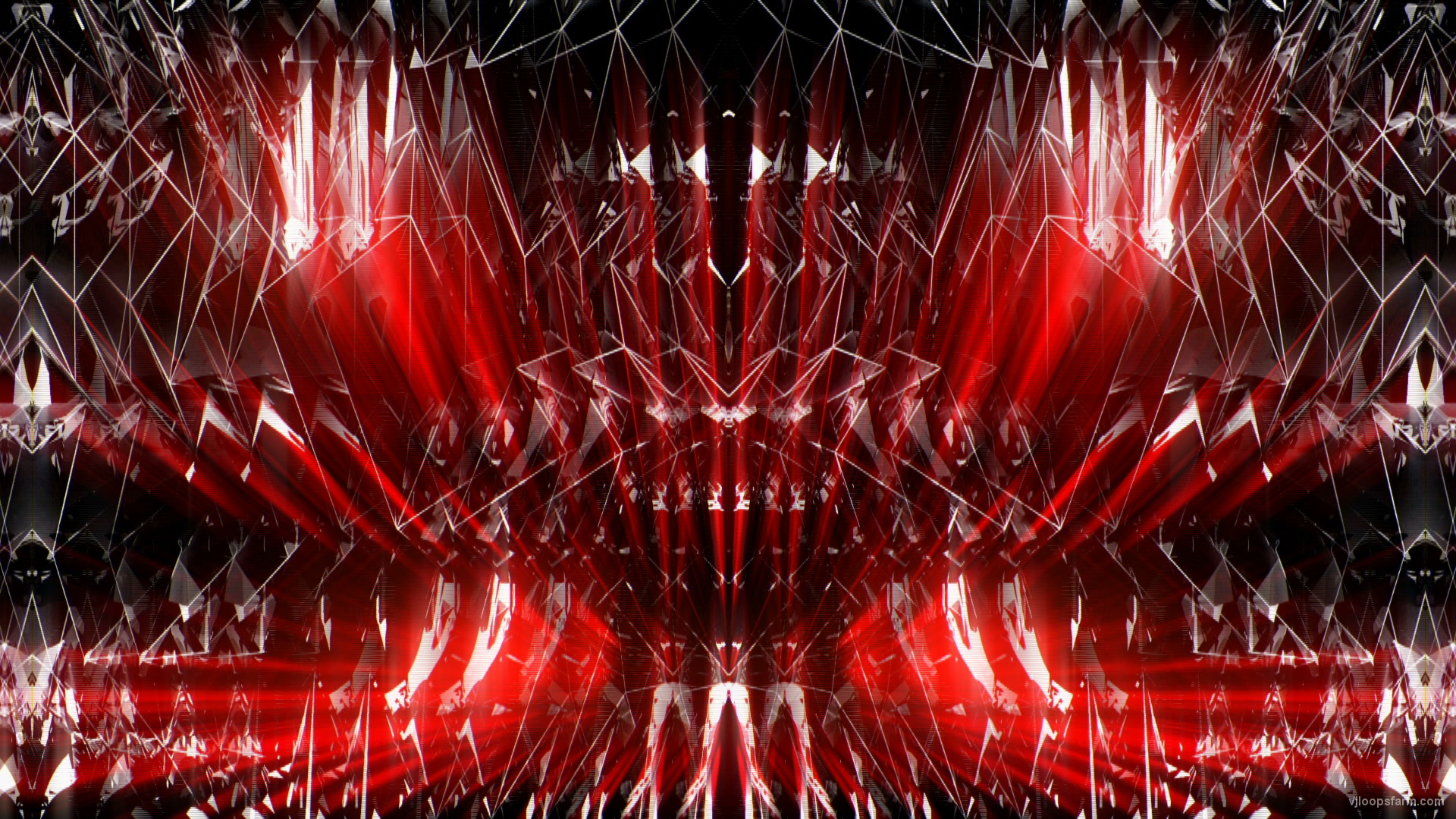 vj video background Abstract-Tech-Cyber-Structure-Red-Wireframe-Symmetry-RED-Motion-Background-Video-Art-VJ-Loop_003