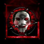 Halloween-Saw-and-penta-Animation-of-Digital-Human-Head-on-Colorful-Noisy-Motion_009 VJ Loops Farm