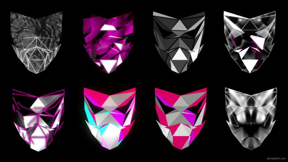 vj video background Polygonal-Mask-Face-strobe-pattern-motion-background-VJING-HD-vj-loop_003