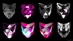 vj video background Polygonal-Mask-Face-strobe-pattern-motion-background-VJING-HD-vj-loop_003