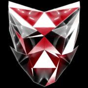 Polygonal-red-evil-robotic-mask-face-motion-lines-vj-loop-HD_002 VJ Loops Farm