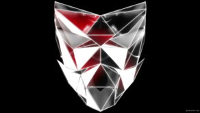 vj video background Polygonal-red-evil-robotic-mask-face-motion-lines-vj-loop-HD_003