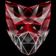 Polygonal-red-evil-robotic-mask-face-motion-lines-vj-loop-HD_004 VJ Loops Farm