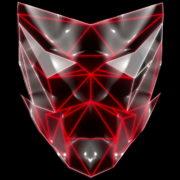 Polygonal-red-evil-robotic-mask-face-motion-lines-vj-loop-HD_005 VJ Loops Farm