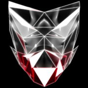 Polygonal-red-evil-robotic-mask-face-motion-lines-vj-loop-HD_006 VJ Loops Farm