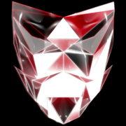 Polygonal-red-evil-robotic-mask-face-motion-lines-vj-loop-HD_007 VJ Loops Farm
