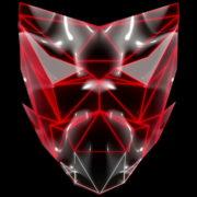 Polygonal-red-evil-robotic-mask-face-motion-lines-vj-loop-HD_008 VJ Loops Farm