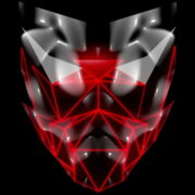 Polygonal-red-evil-robotic-mask-face-motion-lines-vj-loop-HD_009 VJ Loops Farm