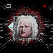 vj video background Red-Sebastian-Bach-Face-mask-motion-graphics-art-vj-loop_003
