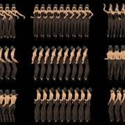Beauty-Blonde-Girl-Team-in-Covid-19-black-mask-dancing-on-black-background-4K-Video-VJ-Footage-1920 VJ Loops Farm