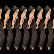 Beauty-Blonde-Girl-Team-in-Covid-19-black-mask-dancing-on-black-background-4K-Video-VJ-Footage-1920_005 VJ Loops Farm