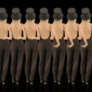 Beauty-Blonde-Girl-Team-in-Covid-19-black-mask-dancing-on-black-background-4K-Video-VJ-Footage-1920_006 VJ Loops Farm