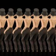 Beauty-Blonde-Girl-Team-in-Covid-19-black-mask-dancing-on-black-background-4K-Video-VJ-Footage-1920_007 VJ Loops Farm