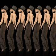 Beauty-Blonde-Girl-Team-in-Covid-19-black-mask-dancing-on-black-background-4K-Video-VJ-Footage-1920_009 VJ Loops Farm