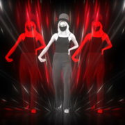 Beauty-Blonde-Girl-in-Covid-19-black-mask-dancing-on-Line-Motion-Background-4K-Video-Vj-Footage-1920_001 VJ Loops Farm