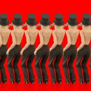 Beauty-Blonde-Girl-in-Covid-19-black-mask-dancing-on-red-background-4K-Video-Footage-1920_007 VJ Loops Farm