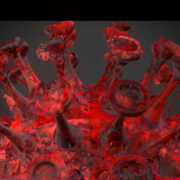 Corona-Virus-Covid19-Ball-Rotating-with-red-white-strobe-effect-4K-Video-VJ-Loop-1920_006 VJ Loops Farm