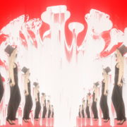 Corona-Virus-Girl-Dancing-on-Covid19-Cell-with-strobing-red-white-effect-video-art-4K-VJ-Footage-1920_006 VJ Loops Farm