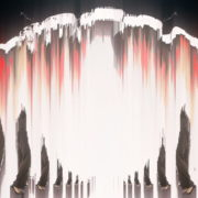 Corona-Virus-Girl-Dancing-on-Covid19-Cell-with-strobing-red-white-effect-video-art-4K-VJ-Footage-1920_008 VJ Loops Farm