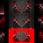 Covid19-Girl-in-mask-dancing-with-Virus-on-strobing-red-white-background-4K-Video-Art-VJ-Looped-Clip-1920 VJ Loops Farm