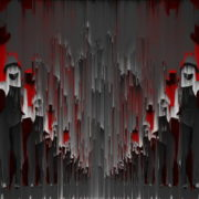 Covid19-Girl-in-mask-dancing-with-Virus-on-strobing-red-white-background-4K-Video-Art-VJ-Looped-Clip-1920_005 VJ Loops Farm