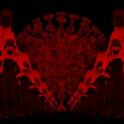 Covid19-Girl-in-mask-dancing-with-Virus-on-strobing-red-white-background-4K-Video-Art-VJ-Looped-Clip-1920_009 VJ Loops Farm
