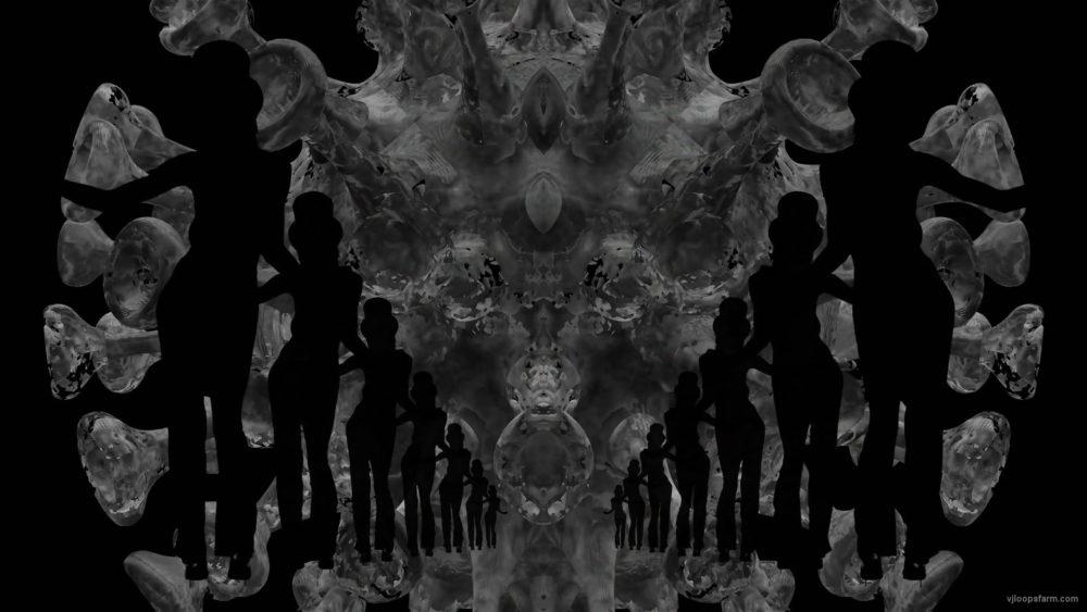 vj video background Covid2020-Virus-3D-Model-with-Dancing-Girls-on-Glitch-Background-4K-Video-VJ-Loop-1920_003