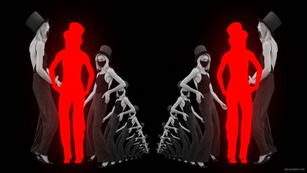 vj video background Dancing-Covid19-Girls-in-COrona-VIrus-Mask-in-Red-White-pixel-sorting-effect-4K-Video-Art-VJ-Loop-1920_003