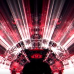 vj video background Massive-rays-of-red-light-streaks-through-liquid-surface-motion-background-Video-Art-Vj-Loop_003