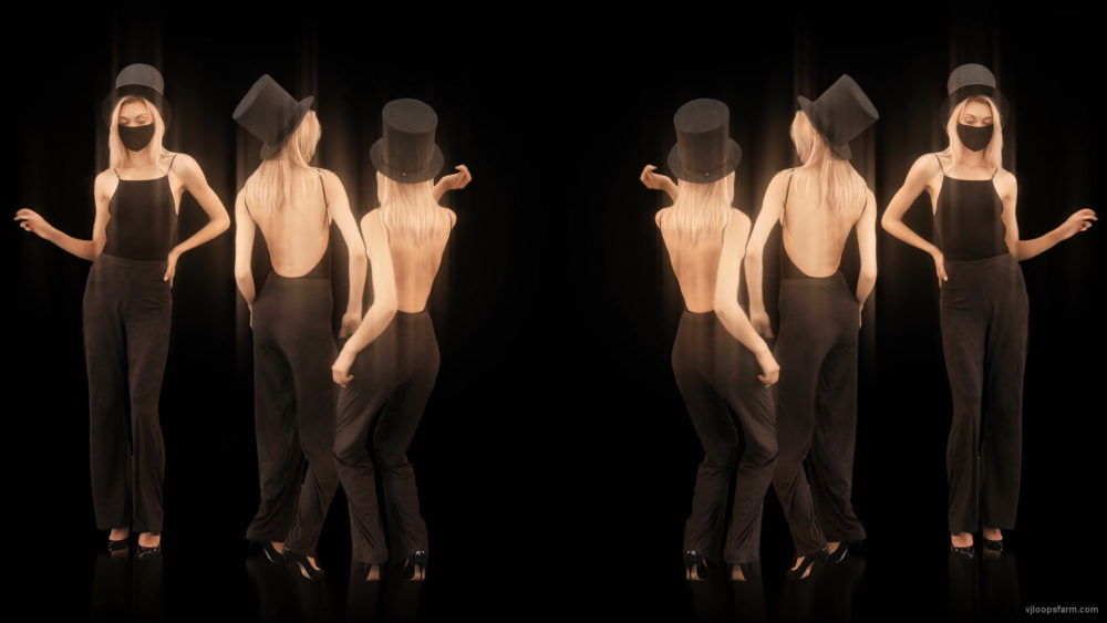 vj video background Mirror-Six-Girls-in-Covid-19-black-mask-dancing-isolated-on-black-background-4K-Video-Art-VJ-Footage-looped-1920_003