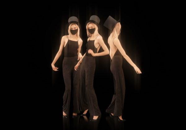 Softly-Three-Girls-in-Covid-19-black-mask-dancing-isolated-on-black-background-4K-Video-Art-VJ-Footage-looped-1920_001 VJ Loops Farm