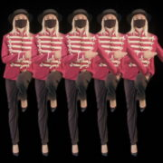 Strobing-Five-Girls-In-Mask-Empire-royal-woman-marching-Video-Art-4K-VJ-Footage-Looped-1920_007 VJ Loops Farm