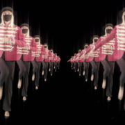 vj video background Tunnel-Double-Side-Girls-In-Mask-Empire-royal-woman-marching-Video-Art-4K-VJ-Footage-Looped-1920_003