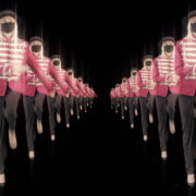 Tunnel-Double-Side-Girls-In-Mask-Empire-royal-woman-marching-Video-Art-4K-VJ-Footage-Looped-1920_008 VJ Loops Farm