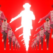 Tunnel-Three-Red-Girls-In-Mask-Empire-royal-woman-marching-Video-Art-4K-VJ-Footage-Looped-1920_002 VJ Loops Farm