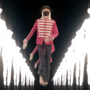Tunnel-Three-Red-Girls-In-Mask-Empire-royal-woman-marching-Video-Art-4K-VJ-Footage-Looped-1920_004 VJ Loops Farm