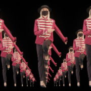 Tunnel-Three-Red-Girls-In-Mask-Empire-royal-woman-marching-Video-Art-4K-VJ-Footage-Looped-1920_007 VJ Loops Farm