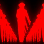 Tunnel-Three-Red-Girls-In-Mask-Empire-royal-woman-marching-Video-Art-4K-VJ-Footage-Looped-1920_009 VJ Loops Farm