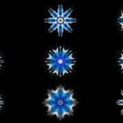 8-points-star-christmas-snowflake-blue-techno-sign-Video-Art-Vj-Loop VJ Loops Farm