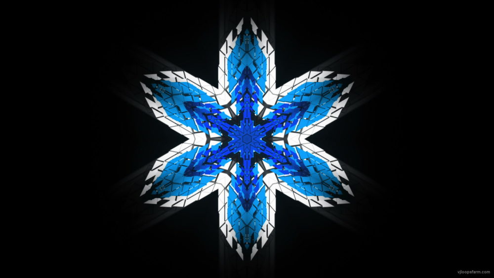 vj video background Hexagram-6-point-blue-star-Geometric-snowflake-Full-HD-Video-Art-Symbolic-Vj-Loop_003