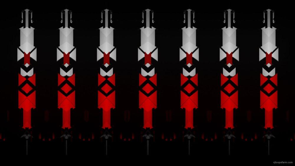vj video background Red-geometric-triangles-columns-patterns-Full-HD-Video-Art-Vj-Loop_003