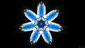 vj video background Septener-Star-Of-The-Magicians-blue-geometric-7-points-symbolik-snowflake-video-art-vj-loop_003
