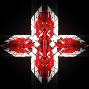 vj video background Templar-geometric-cross-sign-white-red-symbol-Video-Art-Vj-Loop_003