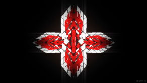 vj video background Templar-geometric-cross-sign-white-red-symbol-Video-Art-Vj-Loop_003