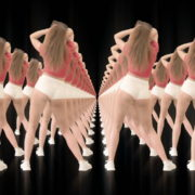 Twerking-girl-army-tunnel-isolated-on-black-background-VJ-Video-Footage-1920_002 VJ Loops Farm
