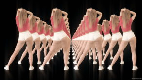 vj video background Twerking-girl-army-tunnel-isolated-on-black-background-VJ-Video-Footage-1920_003