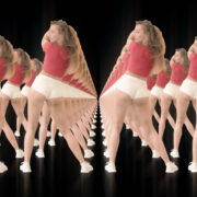 Twerking-girl-army-tunnel-isolated-on-black-background-VJ-Video-Footage-1920_004 VJ Loops Farm